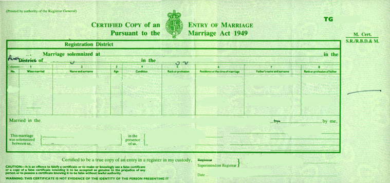 Certified Translation of a Marriage Certificate to Czech